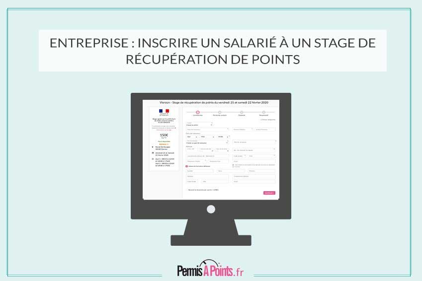 Entreprise : inscrire un salarié à un stage de récupération de points