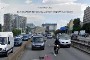 1er février 2021 : la circulation inter-files à moto est de nouveau interdite
