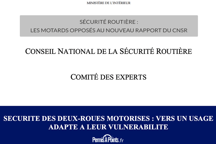 Sécurité routière : les motards opposés au nouveau rapport du CNSR