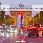 Paris : vers une limitation à 30 km/h à partir de fin août 2021